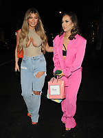 Belle Hassan and Sharon Gaffka at the boohooMan Love Island Party, boohoo, Great Portland Street, on Thursday 07th October 2021, in London, England, UK. <br /> CAP/CAN<br /> ©CAN/Capital Pictures