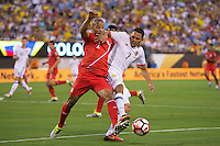 Action photo during the match Peru vs Colombia, Corresponding to the quarterfinals of the America Cup 2016 Centenary at Metlife Stadium.<br /> <br /> Foto de accion durante el partido Peru vs Colombia, Correspondiente a los Cuartos de Final de la Copa America Centenario 2016 en el Estadio Metlife, en la foto: Alberto Rodriguez y Carlos Bacca<br /> <br /> <br /> 17/06/2016/MEXSPORT/Osvaldo Aguilar.