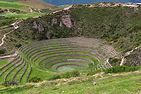 Peru, Moray, Urubamba Valley.  An Inca Agricultural Experimental Site.