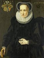 Cunera of Martena. Wife of Rudolph Buynou - attributed to Adriaen van Cronenburg, 1553