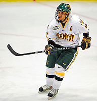 10 January 2009: University of Vermont Catamount forward Corey Carlson, a Senior from Two Harbors, MN, in action against the Boston College Eagles during the second game of a weekend series at Gutterson Fieldhouse in Burlington, Vermont. The Catamounts rallied from an early 2-0 deficit to defeat the visiting Eagles 4-2. Mandatory Photo Credit: Ed Wolfstein Photo