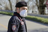 """- Epidemia di virus Covid-19 in Italia - La """"Zona Rossa"""", un gruppo di comuni della provincia di Lodi, circa sessanta chilometri a sud di Milano. È qui che è iniziata l'epidemia del virus Covid 19 in Italia (Coronavirus 19) e si è verificato il maggior numero di infezioni. Nessuno può entrare o uscire, se non con un permesso speciale della Prefettura. Gli ingressi sono strettamente sorvegliati da Polizia, Carabinieri, Guardia di Finanza ed Esercito.<br /> <br /> - Covid-19 virus epidemic in Italy - The """"Red Zone"""", a group of municipalities in the province of Lodi, about sixty kilometers south of Milan. This is where the Covid 19 virus epidemic started in Italy (Coronavirus 19) and the highest number of infections occurred. No one can enter or leave, except with special permission from the Prefecture. The entrances are strictly guarded by the Police, Carabinieri, Financial Police and Army."""