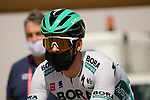 Michael Schwarzmann (GER) Bora-Hansgrohe heads to sign on before the start of Stage 3 of the 2021 UAE Tour running 166km from Al Ain to Jebel Hafeet, Abu Dhabi, UAE. 23rd February 2021.  <br /> Picture: Eoin Clarke | Cyclefile<br /> <br /> All photos usage must carry mandatory copyright credit (© Cyclefile | Eoin Clarke)
