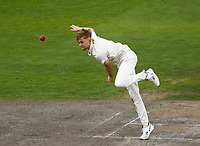 6th July 2021; Emirates Old Trafford, Manchester, Lancashire, England; County Championship Cricket, Lancashire versus Kent, Day 3; James Logan of Kent bowls from the James Anderson End