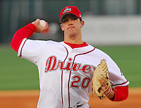 09 April 2007: Jordan Craft of the Greenville Drive in a game against the Columbus Catfish Monday, April 9, 2007. Photo by:  Tom Priddy/Four Seam Images