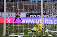 9th January 2021; Memorial Stadium, Bristol, England; English FA Cup Football, Bristol Rovers versus Sheffield United; Aaron Ramsdale of Sheffield United is unable to save the header from Alfie Kilgour of Bristol Rovers for the 1-1 equalising goal