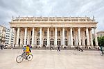Grand Théâtre - The Opéra National de Bordeaux, Place de la Comédie, Bordeaux.<br /> Bordeaux is a port city on the Garonne in the Gironde department in Southwestern France.<br /> It is the capital of the Nouvelle-Aquitaine region, as well as the prefecture of the Gironde department.