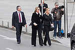 Spain´s Government Delegate Cristina Cifuentes (R) attends the funeral chapel of former Spanish Prime Minister Adolfo Suarez to the Spanish Parliament in Madrid, Spain. March 24, 2014. (ALTERPHOTOS/Victor Blanco)