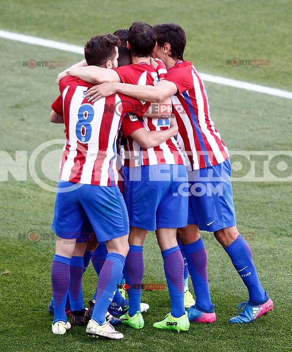 Atletico de Madrid's players celebrate goal during La Liga match. March 19,2017. (ALTERPHOTOS/Acero) /NORTEPHOTO.COM