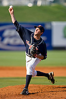 Starting pitcher Robert Morey #22 of the Virginia Cavaliers in action against the Florida State Seminoles at the 2010 ACC Baseball Tournament at NewBridge Bank Park May 27, 2010, in Greensboro, North Carolina.  The Seminoles defeated the Cavaliers 11-4.  Photo by Brian Westerholt / Four Seam Images
