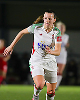 Hannah Eurlings (9 OHL) in action during a female soccer game between Oud Heverlee Leuven and Standard Femina De Liege on the 10th matchday of the 2020 - 2021 season of Belgian Womens Super League , sunday 20 th of December 2020  in Heverlee , Belgium . PHOTO SPORTPIX.BE   SPP   SEVIL OKTEM