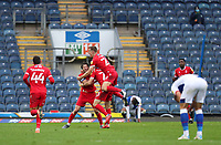 17th October 2020; Ewood Park, Blackburn, Lancashire, England; English Football League Championship Football, Blackburn Rovers versus Nottingham Forest ;  Joe Lolley of Nottingham Forest celebrates with his team mates after scoring in injury time to give his team a 0-1 win