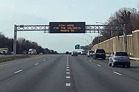 NOV 25 Maryland Stay Home Road Sign