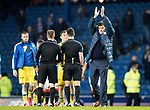 Rangers v St Johnstone…16.12.17…  Ibrox…  SPFL<br />Tommy Wright applauds the travelling fans at full time<br />Picture by Graeme Hart. <br />Copyright Perthshire Picture Agency<br />Tel: 01738 623350  Mobile: 07990 594431