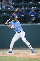 Colton Waltner (5) of the University of San Diego Toreros bats against the UCLA Bruins at Jackie Robinson Stadium on March 4, 2017 in Los Angeles, California.  USD defeated UCLA, 3-1. (Larry Goren/Four Seam Images)
