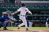 Detroit Tigers Daniel Cabrera (17) bats during a Minor League Spring Training game against the Toronto Blue Jays on April 22, 2021 at Joker Marchant Stadium in Lakeland, Florida.  (Mike Janes/Four Seam Images)