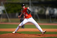 Pitcher Adam McGee (41) during the Perfect Game National Underclass East Showcase on January 23, 2021 at Baseball City in St. Petersburg, Florida.  (Mike Janes/Four Seam Images)