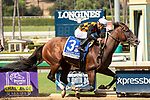 """ARCADIA, CA  SEPTEMBER 29:  #3 Paradise Woods, ridden by Abel Cedillo, wins the Zenyatta Stakes (Grade ll) """"Win and You're In Breeders' Cup Distaff Division, on September 29, 2019 at Santa Anita Park in Arcadia, CA.<br /> (Photo by Casey Phillips/Eclipse Sportswire/CSM"""