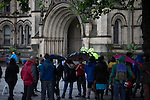 © Joel Goodman - 07973 332324 . 28/06/2016 . Manchester , UK . Anti Brexit protesters in Albert Square , outside Manchester Town Hall , in central Manchester . Photo credit : Joel Goodman