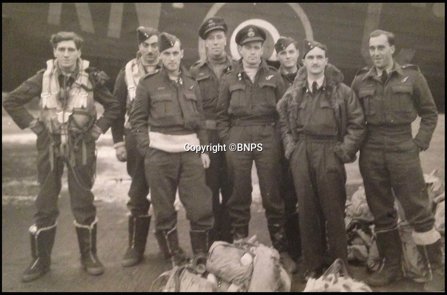 BNPS.co.uk (012902 558833)<br /> Pic: TomWren/BNPS<br /> <br /> Jake Groves great grandfather Sqn Ldr Eadger Badcoe (centre, back)<br /> <br /> A  teenager inspired by his war hero great grandfather who flew in the Battle of Britain has become on the Britain's youngest ever pilots by completing his first solo flight on his 16th birthday.<br /> <br /> Jake Groves spent his birthday following in his great grandfather Squadron Leader Edgar Badcoe's flightpath by singlehandedly flying a light aircraft over Bournemouth, Dorset.<br /> <br /> Sqn Ldr Badcoe served in the RAF during the Second World War and was awarded the DFC (Distinguished Flying Cross), the highest decoration in the RAF, and Bar<br /> for his part in dangerous missions to attack Frankfurt and Dusseldorf in 1943.