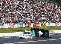 Jun 11, 2017; Englishtown , NJ, USA; NHRA funny car driver Jim Campbell during the Summernationals at Old Bridge Township Raceway Park. Mandatory Credit: Mark J. Rebilas-USA TODAY Sports