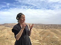"13. ""Settler"": an impassioned woman tells us about Nofei Prat, a settlement in the Benjamin Regional Council, West Bank.<br />