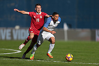 San Diego, CA - Sunday January 29, 2017: Marko Gobeljic, Sebastian Lletget during an international friendly between the men's national teams of the United States (USA) and Serbia (SRB) at Qualcomm Stadium.