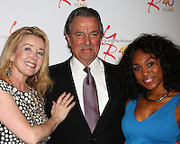 LOS ANGELES - MAR 26:  Melody Thomas Scott, Eric Braeden, Angell Conwell attends the 40th Anniversary of the Young and the Restless Celebration at the CBS Television City on March 26, 2013 in Los Angeles, CA