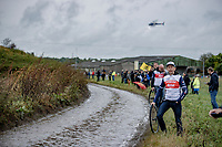 waiting for the riders to splash by<br /> <br /> 118th Paris-Roubaix 2021 (1.UWT)<br /> One day race from Compiègne to Roubaix (FRA) (257.7km)<br /> <br /> ©kramon
