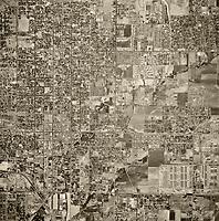 historical aerial photograph San Bernadino, California, 1952