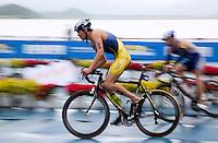10 SEP 2011 - BEIJING, CHN - Rostyslav Pevtsov (UKR) - 2011 Elite Mens ITU World Championship Series Grand Final Triathlon .(PHOTO (C) NIGEL FARROW)