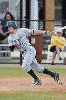 Slippery Rock Lee Foxton #11 during a game vs. the Seton Hill Griffins at Lake Myrtle Field in Auburndale, Florida;  March 5, 2011.  Seton Hill defeated Slippery Rock 14-1.  Photo By Mike Janes/Four Seam Images