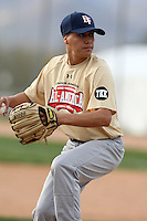 January 16, 2010:  Danny Carreon (Glendale, AZ) of the Baseball Factory Southwest Team during the 2010 Under Armour Pre-Season All-America Tournament at Kino Sports Complex in Tucson, AZ.  Photo By Mike Janes/Four Seam Images