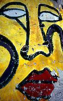 Sesto S.Giovanni (MI) 1970.Murales realizzato sui muri della fabbrica Osva dedicato ai temi delle lotte operaie e delle conquiste sociali. .Foto Livio Senigalliesi