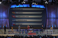 Group H is shown on the display during the FIFA Final Draw for the FIFA World Cup 2010 South Africa held at the Cape Town International Convention Centre (CTICC) on December 4, 2009.