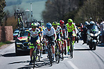 The breakaway during the 107th edition of Liege-Bastogne-Liege 2021, running 259.1km from Liege to Liege, Belgium. 25th April 2021.  <br /> Picture: A.S.O./Aurelien Vialatte | Cyclefile<br /> <br /> All photos usage must carry mandatory copyright credit (© Cyclefile | A.S.O./Aurelien Vialatte)