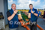 Adrian and Noel Clifford enjoying their chips as they celebrate National Pototoe Week in Cliffords Ardfert potato farm on Saturday.