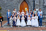 Pupils from Gaelscoil Aogain with Principal Tomas O Chunicur, adnteachers Colm Caoibheain, Siobhan Ni Lionachain and Deirdre Ní Mhaolain in St Stephan and John church Castleisland on Saturday