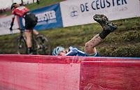 """oops"" by Katie Compton (USA/KFC-Trek)<br /> <br /> Women's Race<br /> UCI Cyclocross World Cup Namur 2020 (BEL)<br /> <br /> ©kramon"