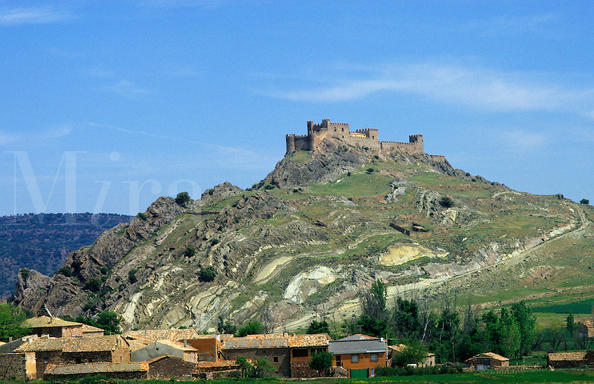 Spain. Castile la Mancha. Riba de Santiuste. Guadalajara. Built between 12th and 13th centuries by the Bishops of Siguenza..