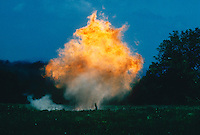 EXPLOSION OF ISOPROPYL ETHER AND ALCOHOL<br /> Disposal Of A Peroxidizable Compound<br /> A volatile, highly explosive  liquid, (CH3)2CHOCH(CH3)2, stabilized by alcohol<br /> Used as a reagent, a solvent.