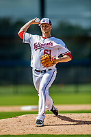 21 February 2019: Washington Nationals pitcher Kyle McGowin works on the mound during a Spring Training workout at the Ballpark of the Palm Beaches in West Palm Beach, Florida. Mandatory Credit: Ed Wolfstein Photo *** RAW (NEF) Image File Available ***