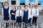 Julie O'Connell, Katie Dillon, Molly Nelan, Evie McCarthy, Benas Daugirdas and Bobby Morgan enjoying their first day at Spa on Thursday.