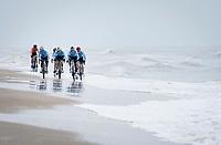 Team Belgium racing on the coastline<br /> <br /> UCI 2021 Cyclocross World Championships - Ostend, Belgium<br /> <br /> Elite Men's Race<br /> <br /> ©kramon
