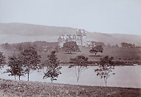 An old photograph of the baronial castle designed by James Wardrop in the 1860s