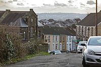 General view of Berwick Terrace in Mount Pleasant, Swansea, Wales, UK. Wednesday 30 January 2019
