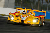 12-15 March 2008, Sebring, Florida, USA.Patrick Long at the wheel of the Penske run DHL Porsche RS Spyder #6 during practice for the Sebring 12 Hours..©F.Peirce Williams 2008, USA .