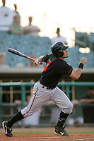 August 16 2009:  Davis Stoneburner of the Bakersfield Blaze during game against the Lancaster JetHawks at Clear Channel Stadium in Lancaster,CA.  Photo by Larry Goren/Four Seam Images