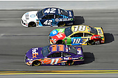 Monster Energy NASCAR Cup Series<br /> The Advance Auto Parts Clash<br /> Daytona International Speedway, Daytona Beach, FL USA<br /> Sunday 11 February 2018<br /> Denny Hamlin, Joe Gibbs Racing, FedEx Express Toyota Camry, Kyle Larson, Chip Ganassi Racing, DC Solar Chevrolet Camaro, Kyle Busch, Joe Gibbs Racing, M&M's Toyota Camry<br /> World Copyright: John K Harrelson<br /> LAT Images