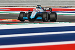 Williams Mercedes driver George Russell (63) of Great Britain in action during the Formula 1 Emirates United States Grand Prix practice session held at the Circuit of the Americas racetrack in Austin,Texas.